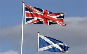 Scotland flag with uk