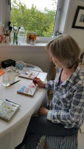 Heather Wood at work in her Westhill studio