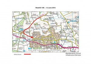 Westhill 10k rolling closure 2